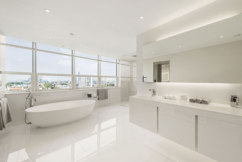 Designer Bathroom at Marathon House | Tiles & Baths Direct