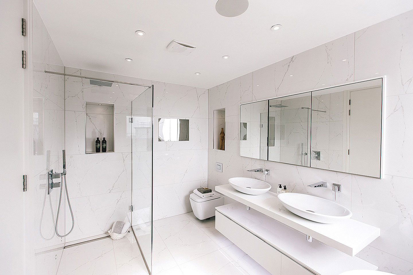 Bathrooms Tiles Throughout This Stunning Duplex Penthouse On The Essex Coast Tiles Baths