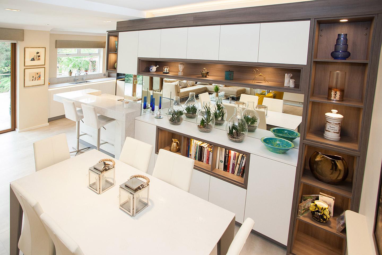 White lacquered hacker kitchen tiles baths direct for Hacker kitchen designs