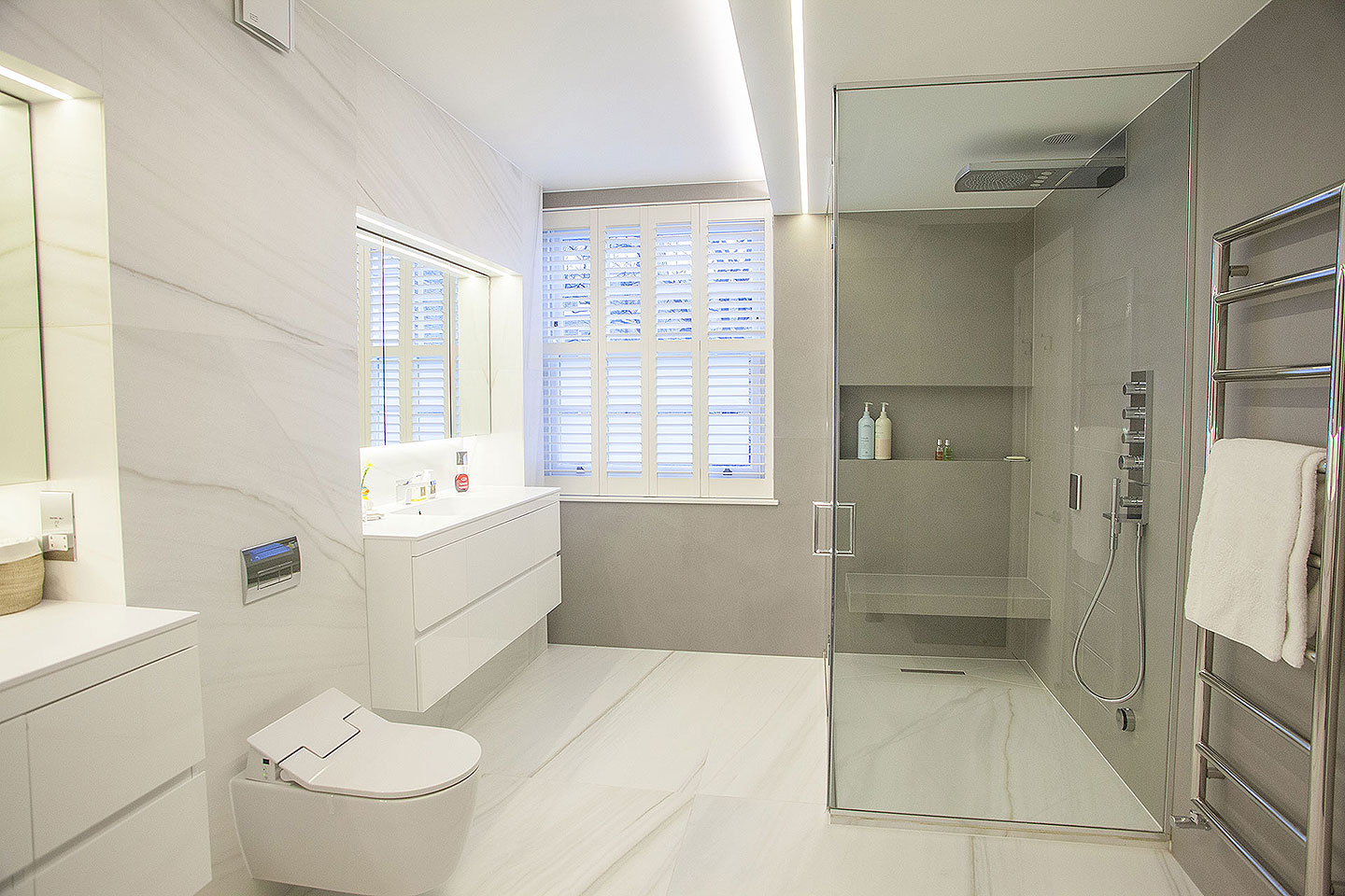 Chelsea House project - 3 En-Suite Bathrooms | Tiles & Baths Direct