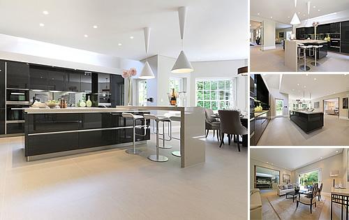 Radlett Hertfordshire Project - Kitchen, Bathrooms, Bedrooms, Porcelain tiles, Wood flooring, Wardrobes and TV Area