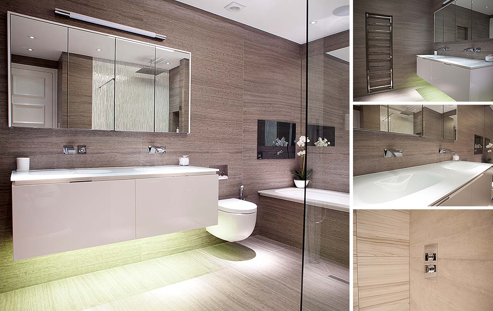 Beautiful Compact Bathroom - Skilfully carved out contemporary luxury bathrooms in a prewar classic Mayfair apartment block