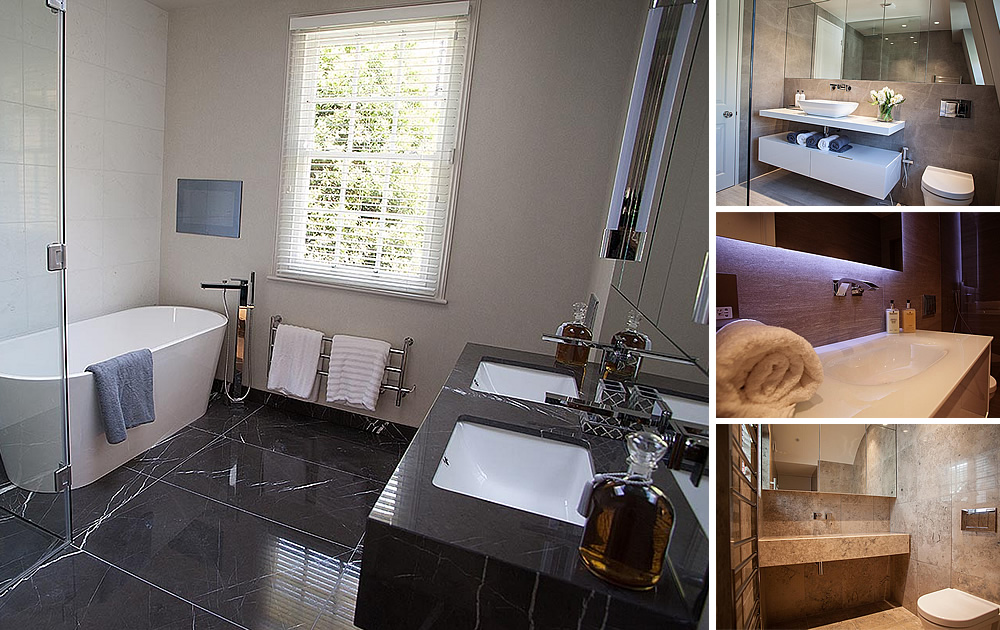 Knightsbridge Townhouse Project  - Completed House:- Bathrooms, Kitchen, Bedrooms & Living Area.