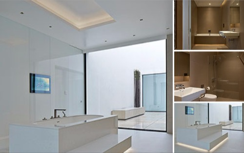 Designer Bathrooms & Tiles - Courtyard House North London
