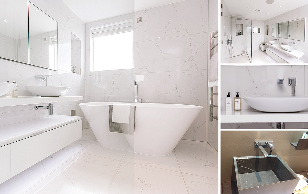 Essex Coast Penthouse - Bathrooms & tiles throughout this stunning duplex penthouse