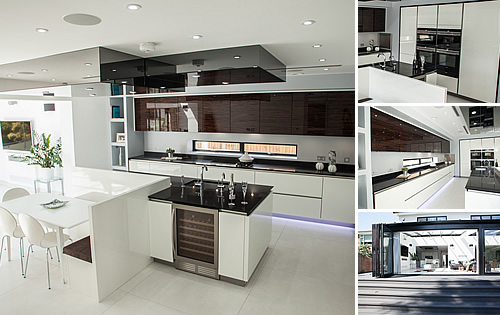 White/Macassar Glossy  - Kitchen in Hadley Wood