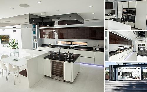 White/Macassar Glossy  - Kitchen in Hadley Wood