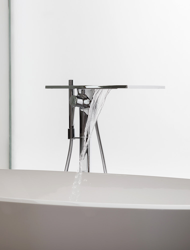 TBK Designed White & Grey Bathroom - Bath Tap