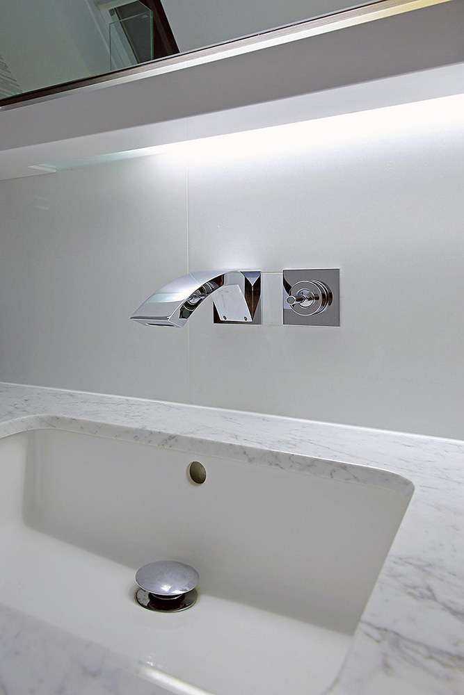 Radlett Hertfordshire - Bathroom Furniture - Basin : at night