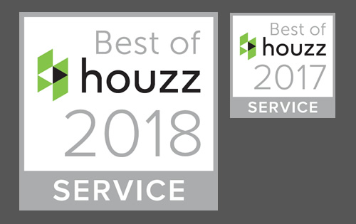 Best of Houzz 2017 & 2018 - Tiles & Baths Direct has been chosen as a Best of Houzz winner for Customer Service two years in a row 2017 & 2018!